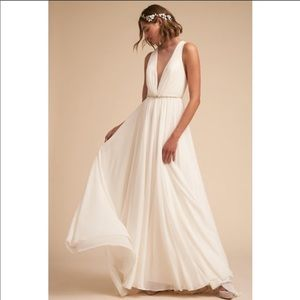 BHLDN Jenny Yoo Conrad Wedding Gown ivory
